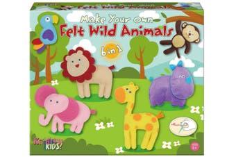 Make Your Own Felt 6-In-1 Wild Animals Playset