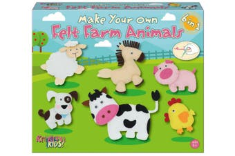 Make Your Own Felt 6-In-1 Farm Animals Playset