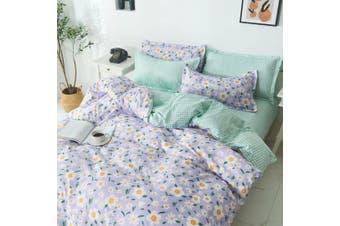 100% Cotton Quilt Cover 3 Pieces Bedding Set Queen