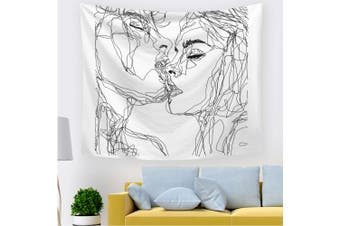 EHOMMATE 150*130CM Lover's Kissing Picture on Wall Tapestry 212636-S