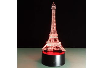 EHOMMATE 3D Tower Led Lamps within 7 Colors Change
