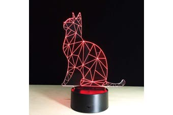 EHOMMATE 3D Cat Led Lamps within 7 Colors Change