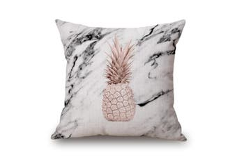 EHOMMATE 45*45cm A Pineapple Printed Marble Design on 100% linen Cushion Cover 60100-18
