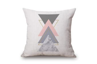 EHOMMATE 45*45cm Colorful Triangles on Cotton&linen Cushion Cover 60100-24