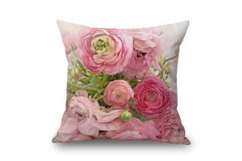 EHOMMATE 45*45cm Loving Roses on 100% linen Cushion Cover 60101-09