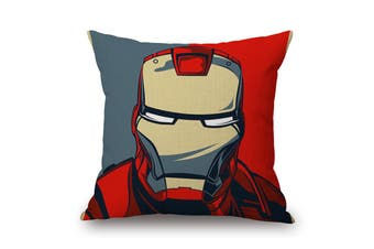 EHOMMATE 45*45cm The Iron Man on Marvel 100% linen Pillow Cover 87066