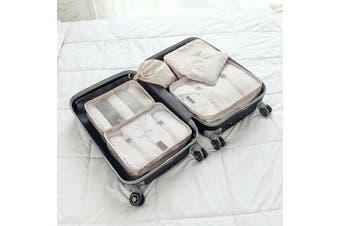 EHOMMATE Portable Six-Piece Waterproof Travel Storage Suit D72 Beige