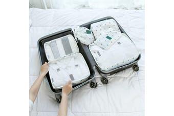 EHOMMATE Portable Six-Piece Waterproof Travel Storage Suit D72 Cactus