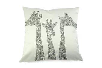 EHOMMATE 45*45cm A Giraffe on Pop Graffiti Design Painting DIY Cotton Linen Pillow Case DWSH010