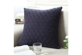 EHOMMATE Nordico Handmade Soft Cozy Knit Cushion Cover - Blue
