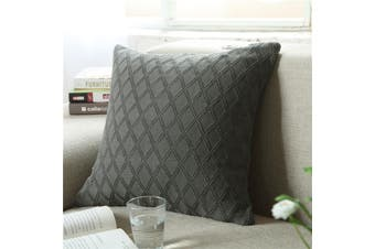 EHOMMATE Nordico Handmade Soft Cozy Knit Cushion Cover - Grey