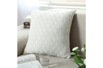 EHOMMATE Nordico Handmade Soft Cozy Knit Cushion Cover - White