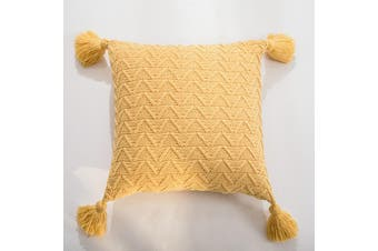 EHOMMATE Nordico Handmade Cozy Cushion Cover - Yellow