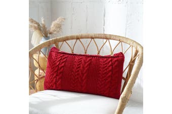 EHOMMATE Nordico Handmade Cozy Cushion Cover - Red