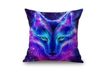 EHOMMATE 45*45cm A Starry Sky Wolf on 100% linen Pillow Cover ZR-0006