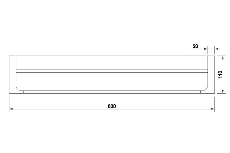 INDIGO HAUS APSLEY SQUARE 600MM DOUBLE TOWEL RAIL CHROME BATHROOM ACCESSORY