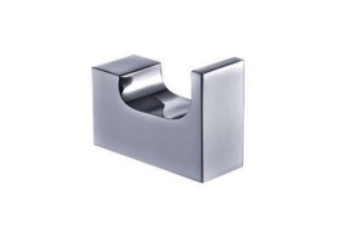 INDIGO HAUS APSLEY SQUARE ROBE HOOK CHROME BATHROOM ACCESSORY