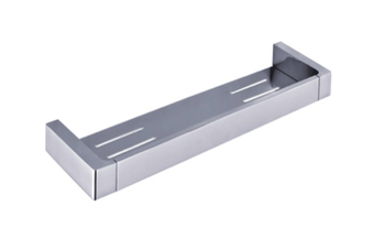 INDIGO HAUS APSLEY SQUARE SHOWER SHELF CHROME BATHROOM ACCESSORY