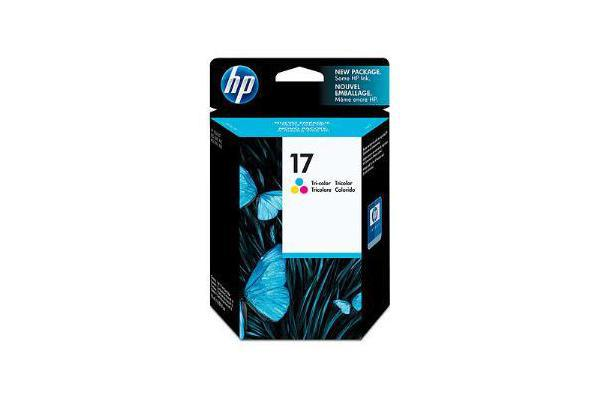 HP 17 TRI-COLOR INK CARTRIDGE C6625A