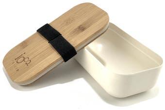 IOco Bamboo Lunch Box 1100ml - White