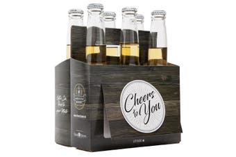 Cheers To You' Beer Caddy & Gift Card |by IOco| - Wooden