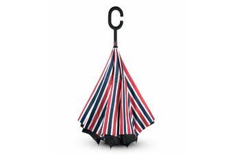 IOco Reverse Umbrella - Red, White & Blue Stripe