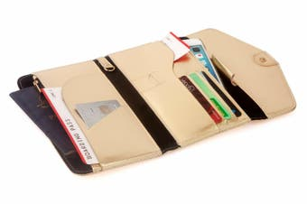 Travel Wallet -Gold