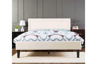 Istyle Wiltshire King Bed Frame Fabric Beige