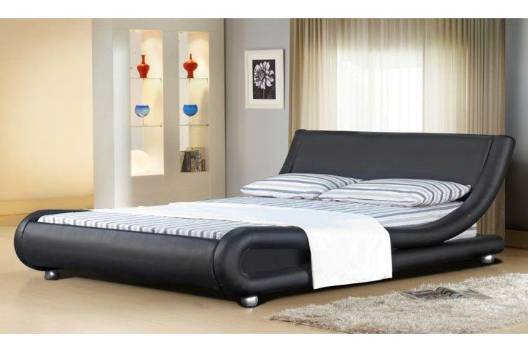 Istyle Malloroca Queen Bed Frame Pu, Istyle Mallorca Queen Bed Frame Pu Leather Black