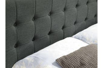 Istyle Amelia King Bed Head Fabric Charcoal