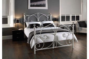 Istyle Christina King Single Bed Frame Metal White