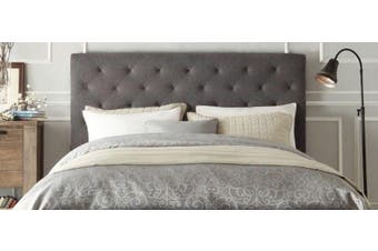 Istyle Chester Double Bed Head Fabric Grey