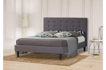 Istyle Alexis Wilt King Bed Frame Fabric Grey