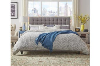 Istyle Amelia King Bed Frame Fabric Grey