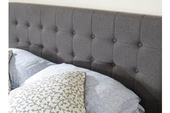 Istyle Amelia King Bed Head Fabric Grey