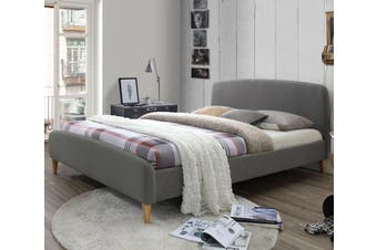 Istyle Cameron King Bed Frame Fabric Grey