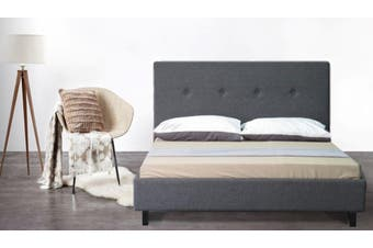 Istyle Cristo King Bed Frame Fabric Grey