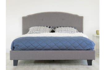Istyle Katrina King Bed Frame Fabric Grey