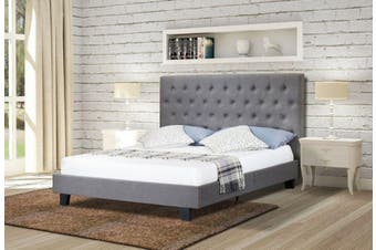Istyle Norman King Bed Frame Fabric Grey