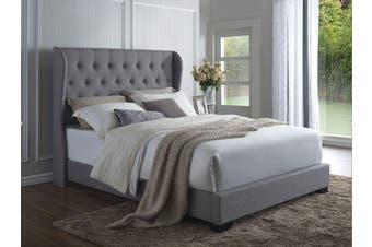 Istyle Wimbledon King Bed Frame Fabric Grey