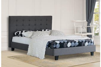 Istyle Alexis King Single Bed Frame Fabric Grey