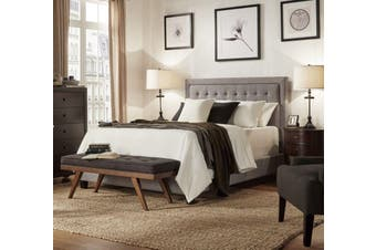 Istyle Jensen Queen Bed Frame Fabric Grey