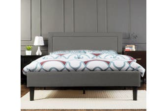 Istyle Wiltshire Queen Bed Frame Fabric Grey