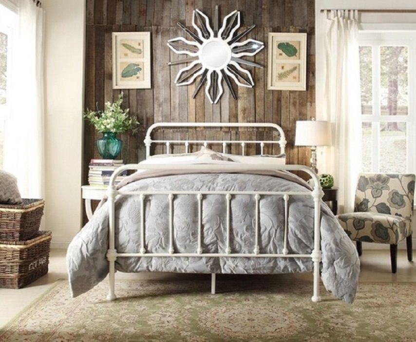 Istyle Monaco Double Bed Frame Metal White Kogan Com