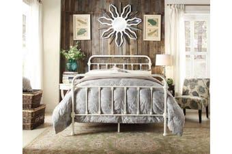 Istyle Monaco King Single Bed Frame Metal White
