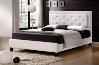 Istyle Lisa King Single Bed Frame Pu Leather White