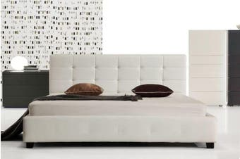 Istyle Milan King Single Bed Frame Pu Leather White