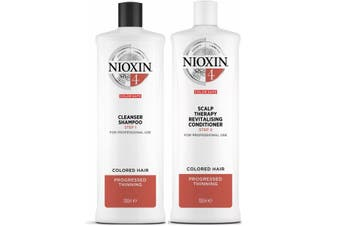 Nioxin 4 System Cleanser Shampoo and Scalp Revitaliser Conditioner 1 Litre Duo