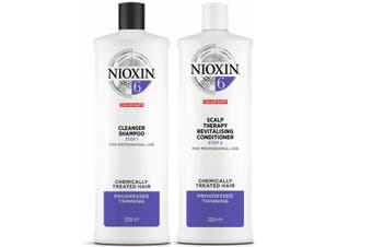 Nioxin System 6 Cleanser Shampoo and Scalp Revitaliser Conditioner 1 Litre Duo