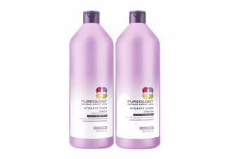 Pureology Hydrate Sheer Shampoo + Conditioner 1000 ml Duo